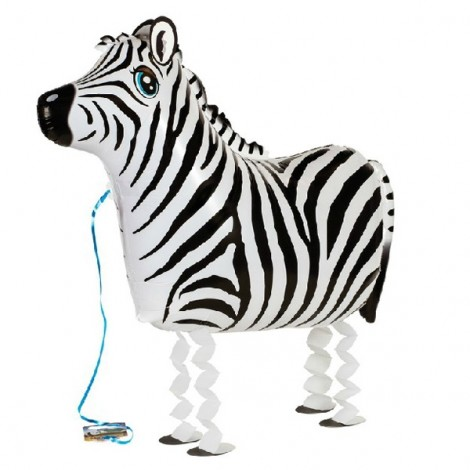 Walking Pet Balloon Kids Children Gifts Party Animal Foil Balloon Zebra Style