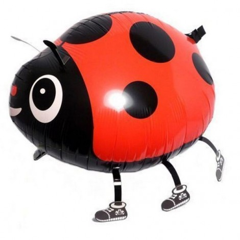 Walking Pet Balloon Kids Children Gifts Party Animal Foil Balloon Ladybug Style