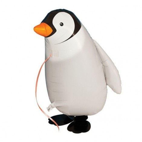 Walking Pet Balloon Kids Children Gifts Party Animal Foil Balloon Penguin Style