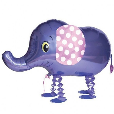 Walking Pet Balloon Kids Children Gifts Party Animal Foil Balloon Elephant Style
