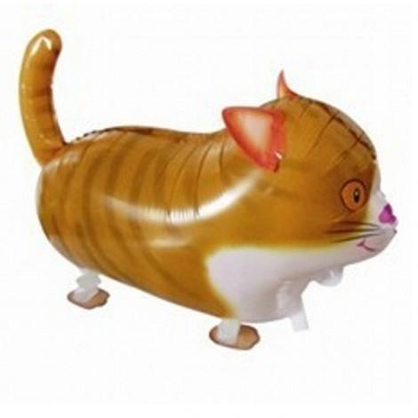Walking Pet Balloon Kids Children Gifts Party Animal Foil Balloon Cat Style