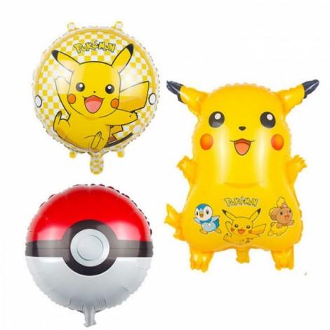 Pokemon Balloon Kid Gift Party Animal Foil Balloon Pikachu Pattern