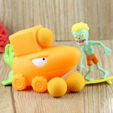 Peashooter PVZ Shooter Calabash Educational Toy Safe Game Plant + Zombie + 3 Ball Set #17 Yellow Radish