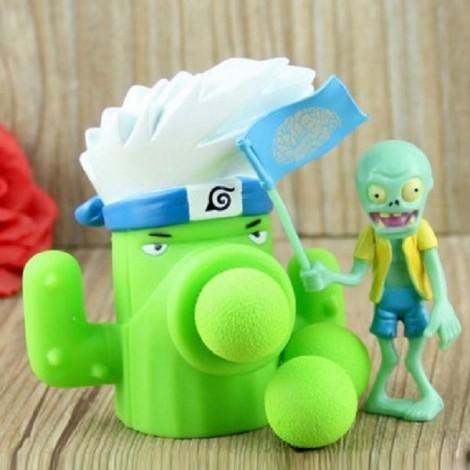 Peashooter PVZ Shooter Calabash Educational Toy Safe Game Plant + Zombie + 3 Ball Set #19 Cactus