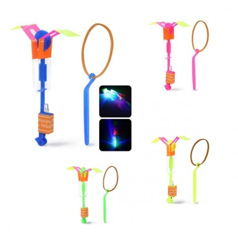 4pcs Arrow Helicopter Faery Flying Toy with LED for Children Outdoor Entertainment