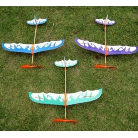 3pcs DIY Intelligent Toy Thunderbird Teenagers Aviation Model Planes Powered By Rubber Band