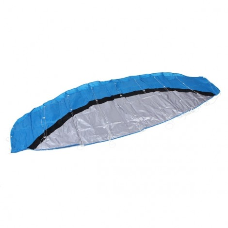 2.5m Huge Frameless Stunt Parafoil Flying Kite Dual Lines Control with 30m Line + Line Board Blue