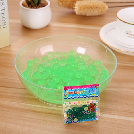 Magic Moisturizing Crystal Mud Soil Water Beads for Flower Planting (About 400pcs/Bag) Emerald