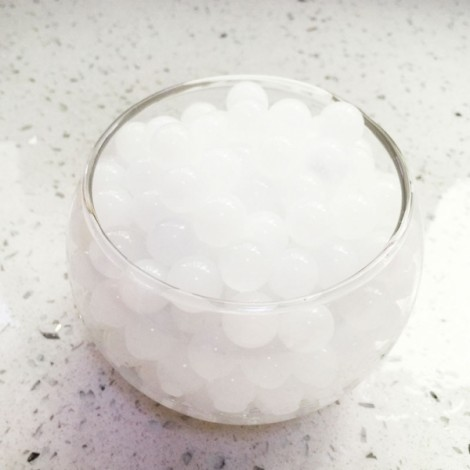 Magic Moisturizing Crystal Mud Soil Water Beads for Flower Planting (About 400pcs/Bag) White