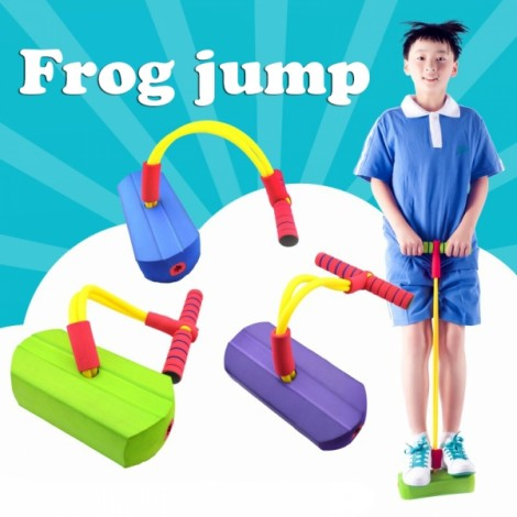 Foam Pogo Bounce Shoes Jumper Crazy Jumping Frog Kids Toy Green
