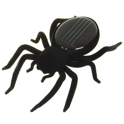 Educational Solar Powered Spider Robot Toy Gadget Gift Black