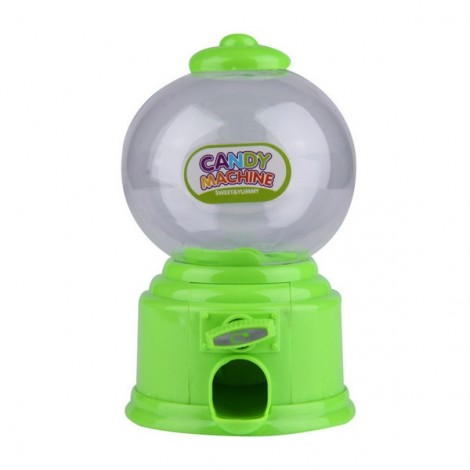 Baby Candy Favors Sweet Candy Dispenser Machine Colorful Piggy Bank Saving Coin Box Green