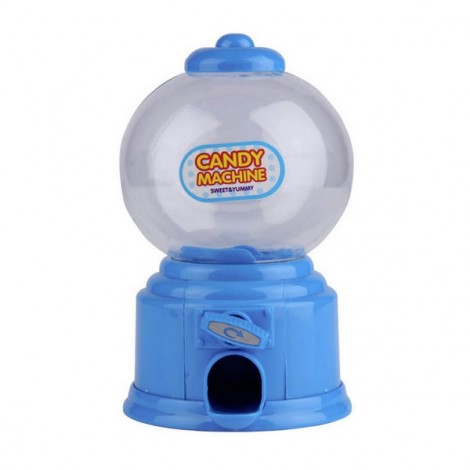 Baby Candy Favors Sweet Candy Dispenser Machine Colorful Piggy Bank Saving Coin Box Blue
