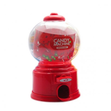 Baby Candy Favors Sweet Candy Dispenser Machine Colorful Piggy Bank Saving Coin Red