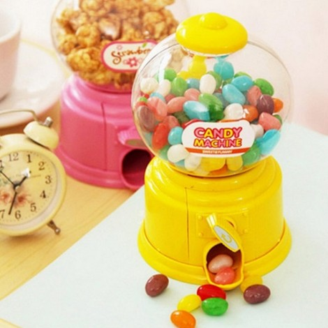 Baby Candy Favors Sweet Candy Dispenser Machine Colorful Piggy Bank Saving Coin Box Yellow