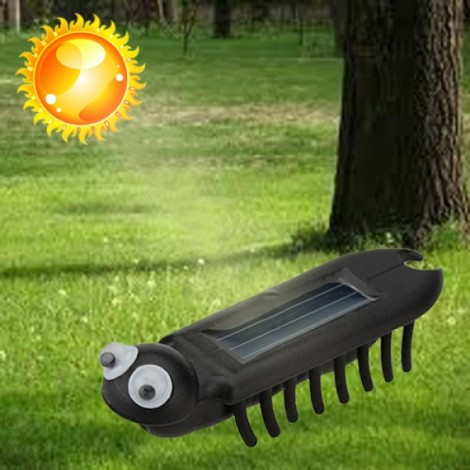 Mini Solar Power Energy Multiped Crawling Insect Educate Gadget Toy Black