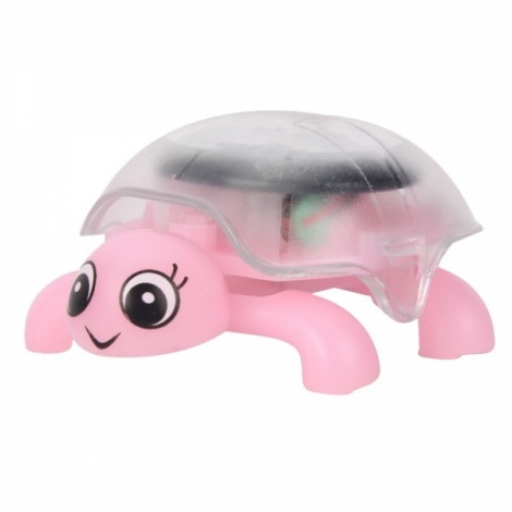 Mini Sunlight Solar Educational Toy Little Tortoise Turtle Gift Pink