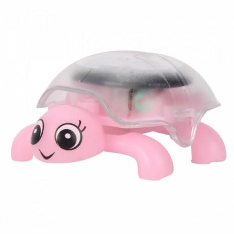 Mini Sunlight Solar Educational Toy Little Tortoise Turtle Gift Pink