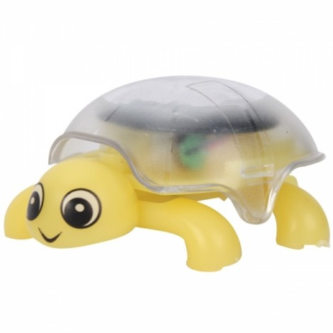 Mini Sunlight Solar Educational Toy Little Tortoise Turtle Gift Yellow
