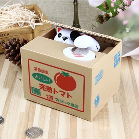 Electric Voice Coin Piggy Bank Saving Money Box Novelty Toy Tomato Pattern