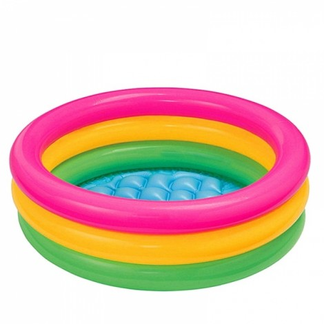 Inflatable Swimming Pool Round Rainbow Baby Piscina 60cm Colorful