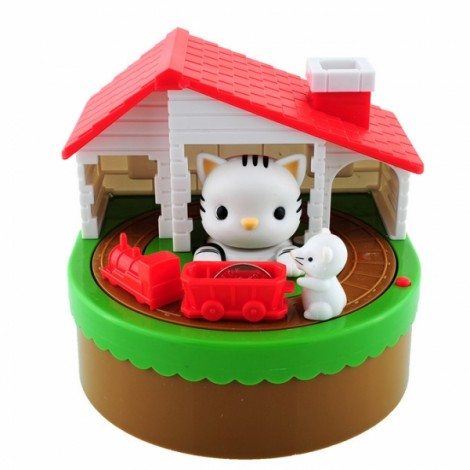Cute Kitty Cat Mouse Itazura Coin Money Box Ocelot Multicolor