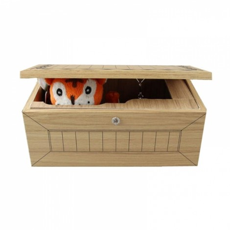 Tiger Don't Touch Wooden Box Leave Me Alone Useless Machine Toy Gift
