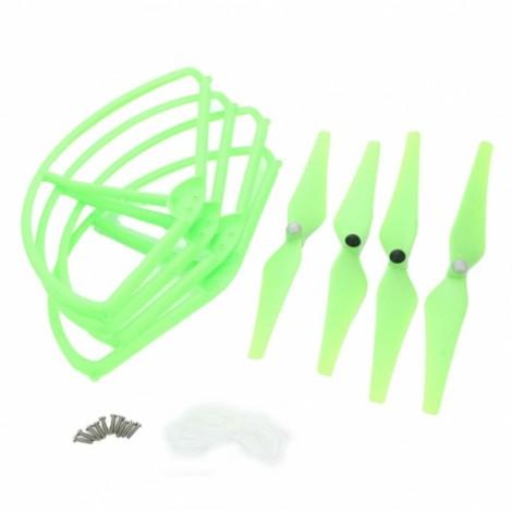 DJI Phantom/Phantom2/Phantom2 V+/WLtoys V303/Cheerson CX-20 9443 Blades + Protective Covers Green