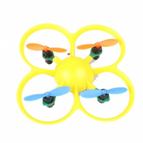 HMX68 (A) 2.4G 4CH 6-Axis Gyro Mini Drone RC Quadcopter (Mode 2) Yellow
