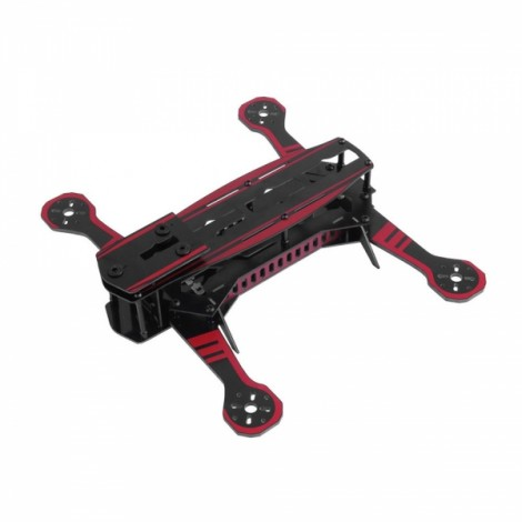 Super Racing Multiaxial Glass Rack 250mm FPV Multirotor Frame Kit Black & Red