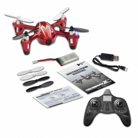 Hubsan X4 H107C 2.4G 4CH 6-Axis Gyro Mini RC Quadcopter with 0.3MP HD Camera Mode 2 Red & Silver