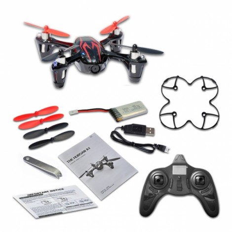 Hubsan H107C RC Quadcopter with 2.0MP HD Video Recording Black & Red