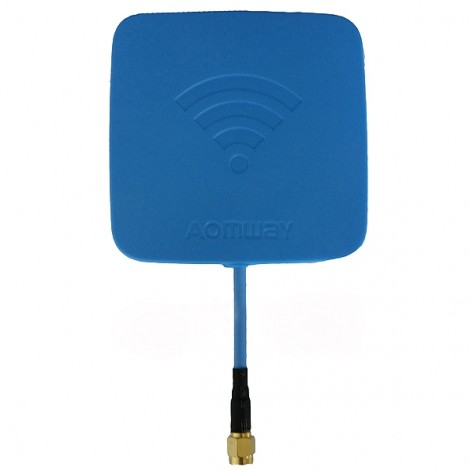 Aomway 5.8GHz 14dBi High Gain Flat FPV Receiver Antenna SMA Male Blue