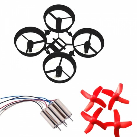 Prop 4x 6mm Brushed Coreless CW Motor for Inductrix Tiny Whoop H36 Mini Quadcopter