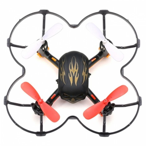 Global Drone GW008 Mini Skull 2.4G 4CH 6Axis Automatic Parallel System 3D Rolling RC Quadcopter Black