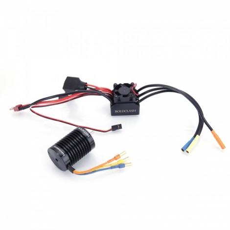 BoldClash BL F540 3930kv 4 Poles Waterproof Sensorless Brushless Motor + 45A Burshless ESC for 1/10 RC Car