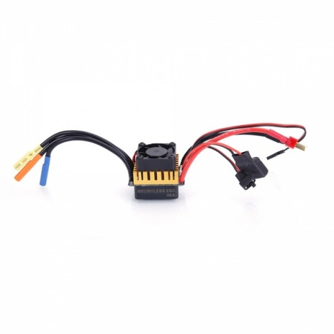 BoldClash 45A 2S~3S LiPo Waterproof Brushless ESC with BEC 5.8V/3A(Switch Mode)for 1/10 RC Car