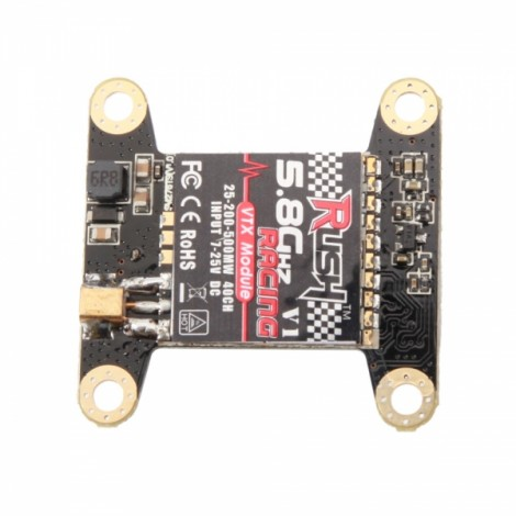 RUSH RF VTX V1 5.8G 40CH Input 7-25V DC 25mW/200mW/500mW Switchable MMCX Wireless Image Transmission Transmitter Module