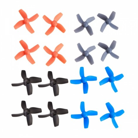 BoldClash BWhoop B03 Pro-04 16pcs Spare Parts Propeller Set for BoldClash Bwhoop B03 B03 Pro E011 E010 H36 F36 Inductrix Tiny Whoop Black & Blue & Orange & Gray