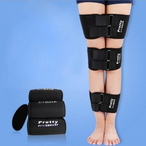 3pcs High Quality O X Type Legs Straightening Correction Thigh Calf Correction Belts Kit Black S