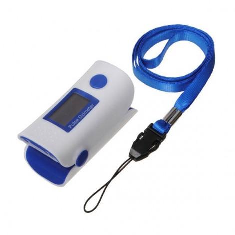 Home OLED Finger Pulse Oximeter Spo2 Monitor Fingertip Oxygen Monitor Blue & White