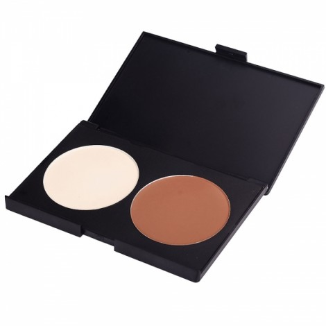 2 Colors Superior Face Skin Embellishment Bronzing Powder Beige & Brown
