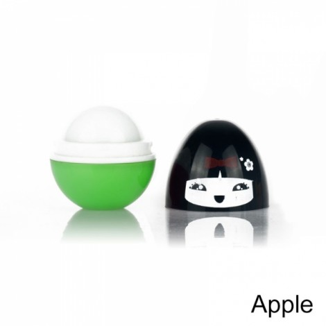 Round Ball Pomade Fruit Fragrance Moisturizer Cute Lip Balm Apple