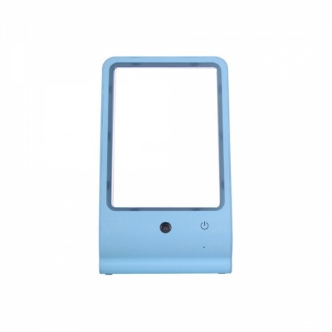 Water Makeup Mirror USB Desktop Makeup Mirror with LED Lamp Blue