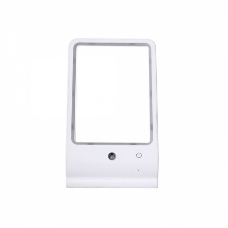Water Makeup Mirror USB Desktop Makeup Mirror with LED Lamp White