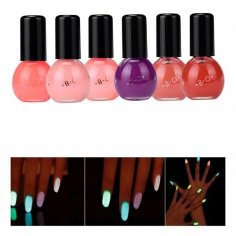 12 Colors Makeup Fluorescent Luminous Gel Candy Color Nail Polish 7#