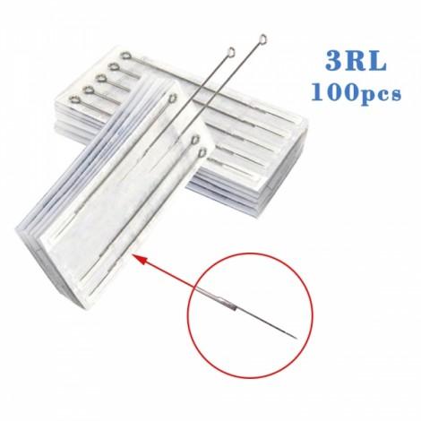 100pcs Professional Sterilized Round Liner Tattoo Needles 3RL