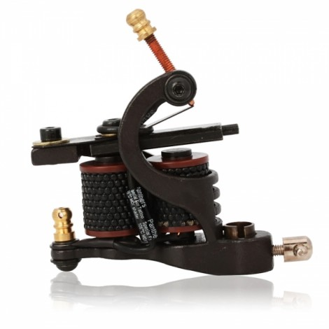 8 Wrap Coils Cast Iron Liner Tattoo Machine Black 005B