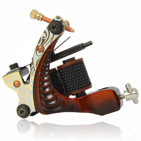8 Wrap Coils Low-carbon Steel Liner Tattoo Machine Red 002
