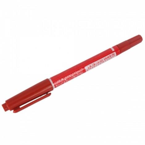 Dual Tattoo Skin Maker Piercing Marking Scribe Pen Red